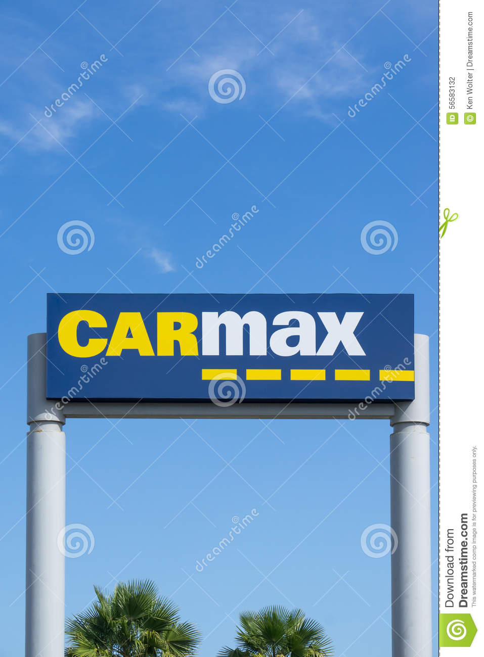 carmax dealership sign and logo editorial photography image 56583132. Black Bedroom Furniture Sets. Home Design Ideas