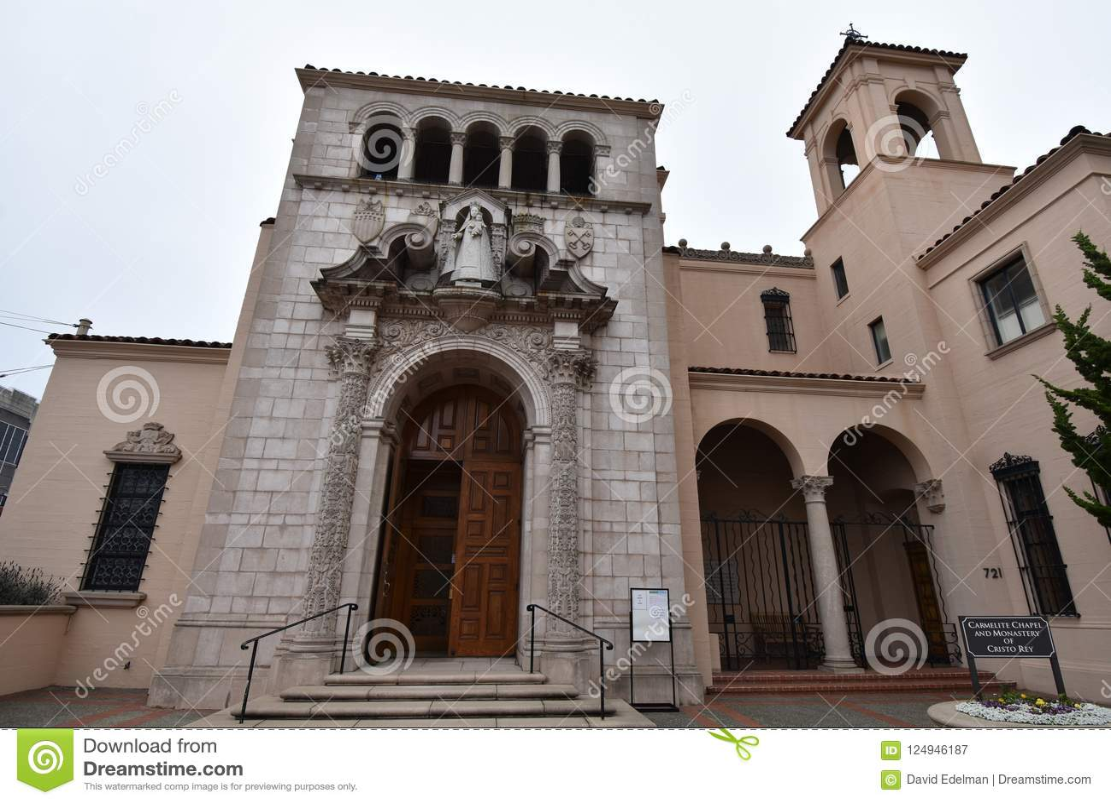 The Carmelite Monastery Of Cristo Rey, San Francisco, 1  Stock Image
