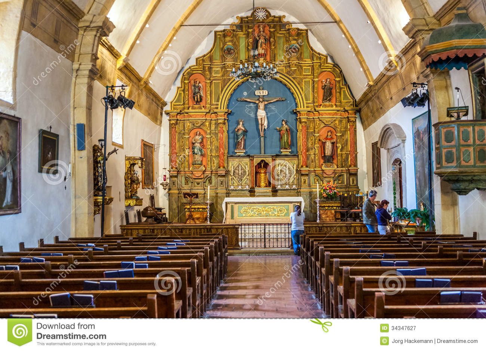 Carmel Mission San Carlos Borromeo Editorial Photography