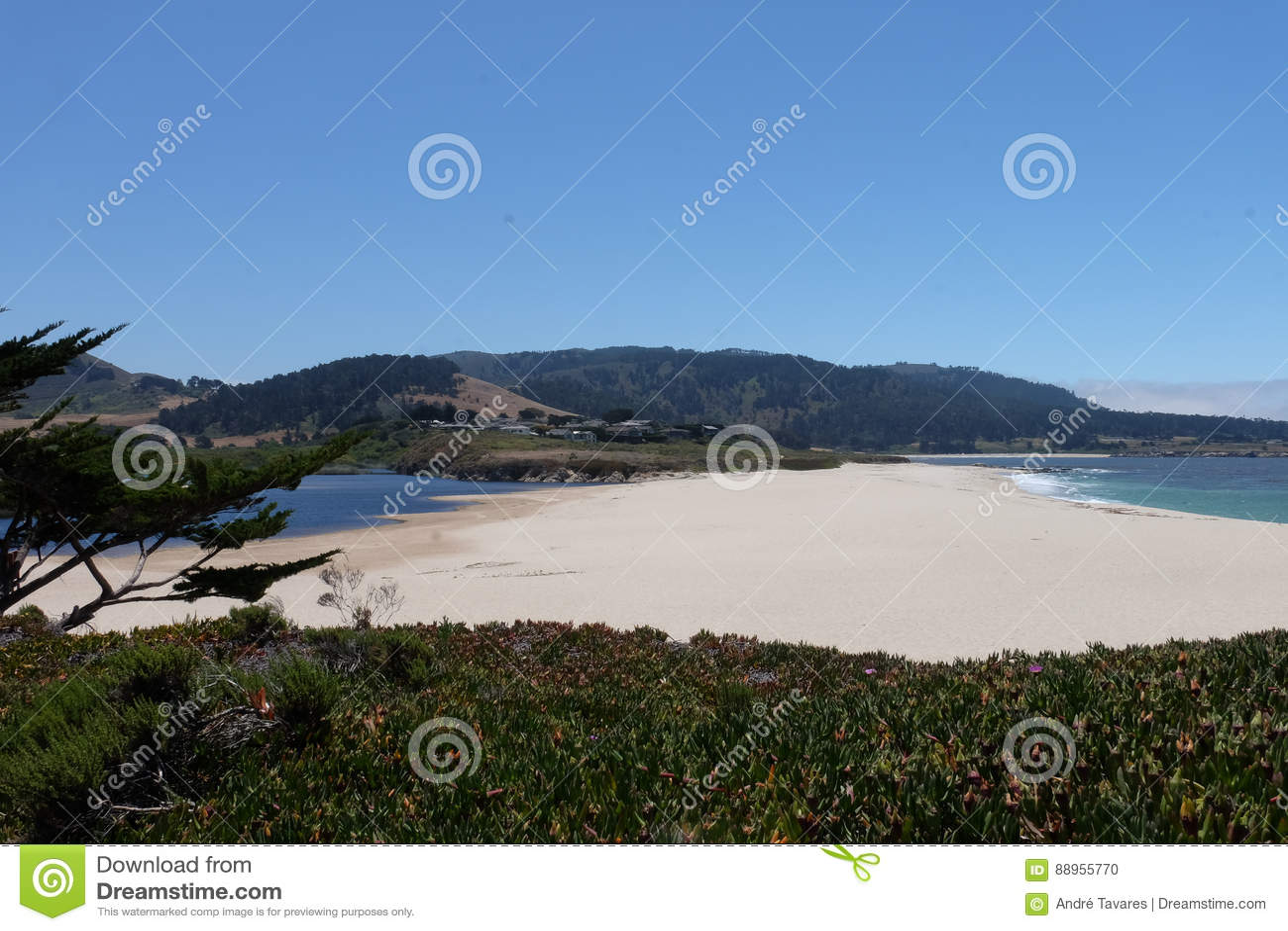 Carmel plaża Kalifornia, Stany Zjednoczone