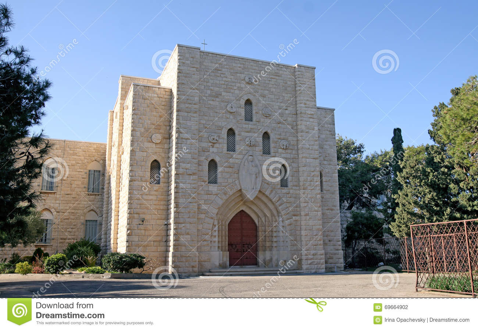 Carmelite kloster på Mount Carmel i Haifa
