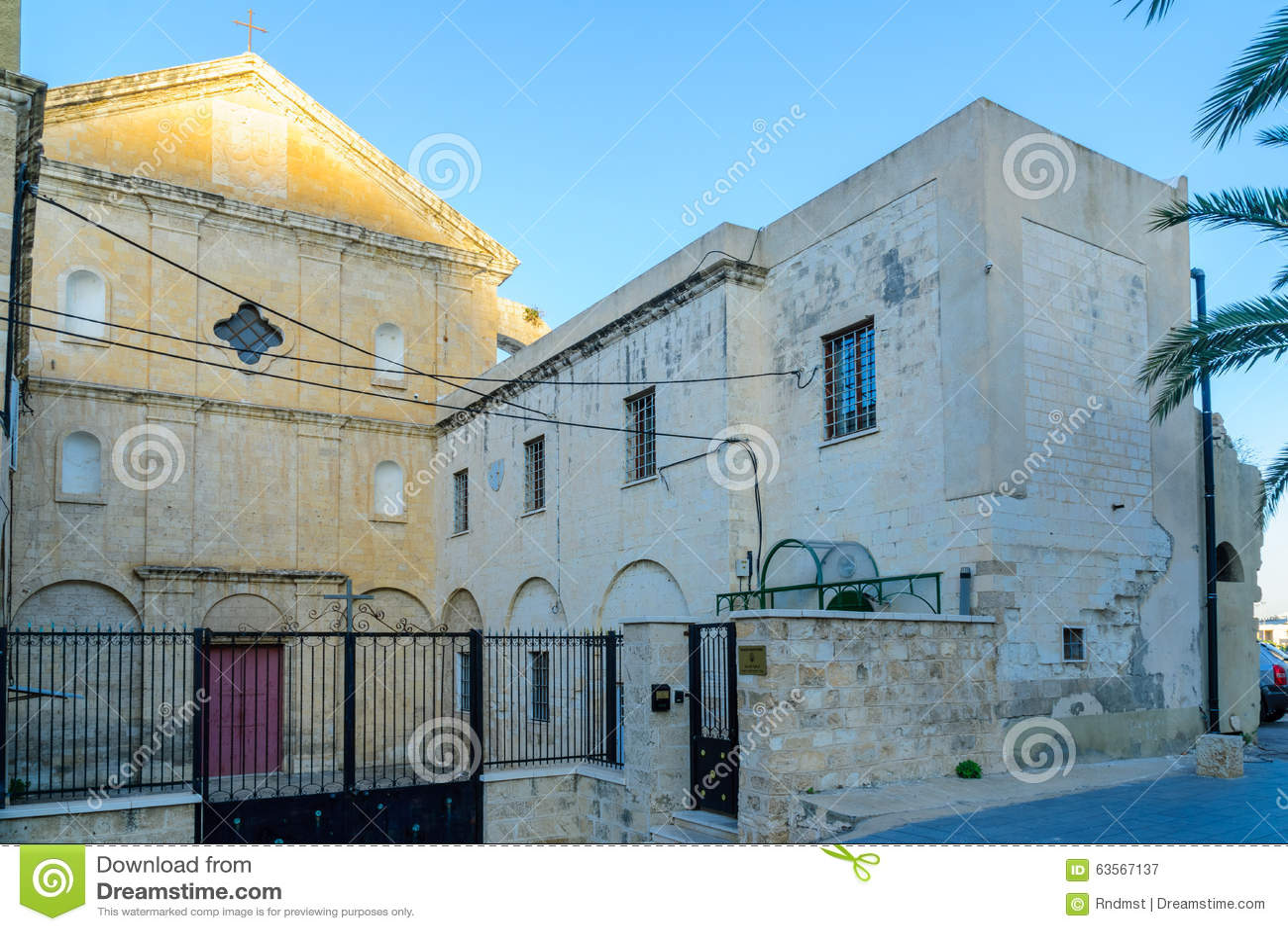 Carmelite Monastery, Haifa stock image  Image of cloister - 63567137