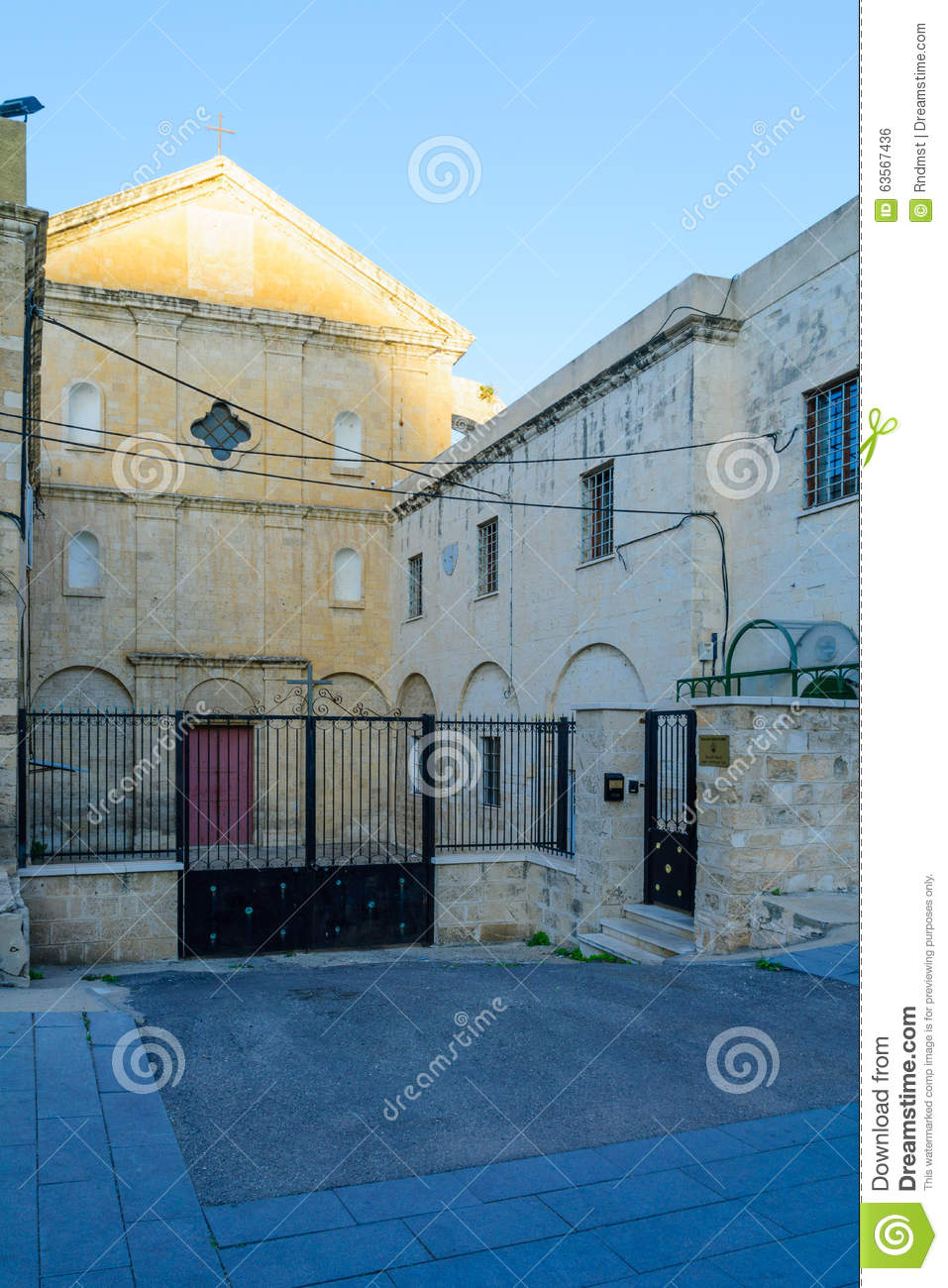 Carmelite Monastery, Haifa stock photo  Image of mountain