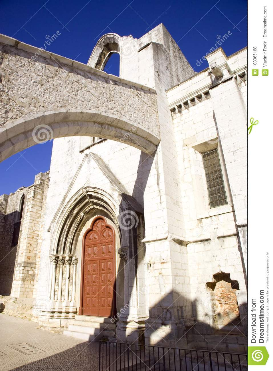 The Carmelite Monastery Lisbon Portugal The Ruins Of Arches