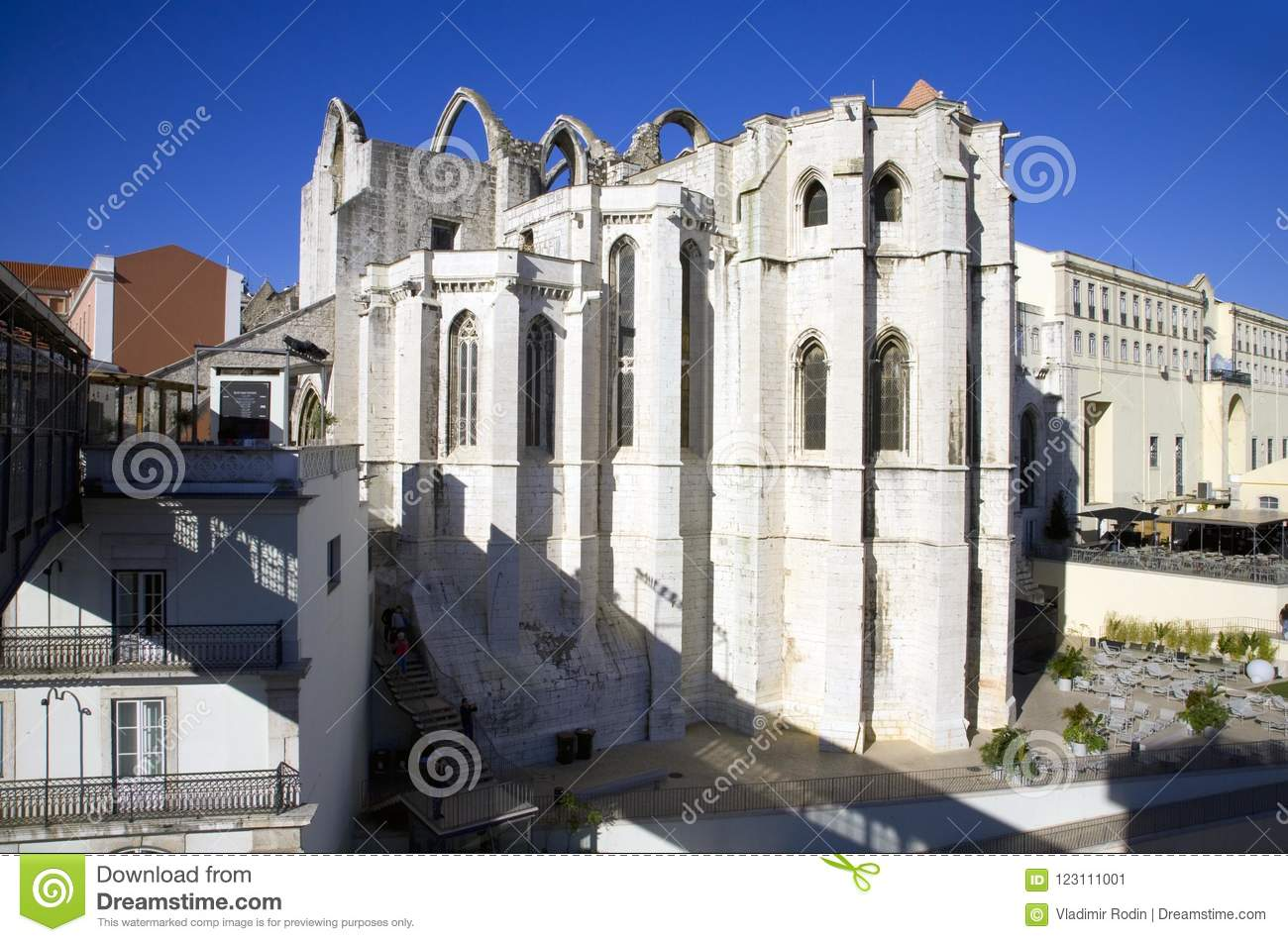 The Carmelite Monastery Lisbon Portugal The Ruins Of The Gothic Nuns