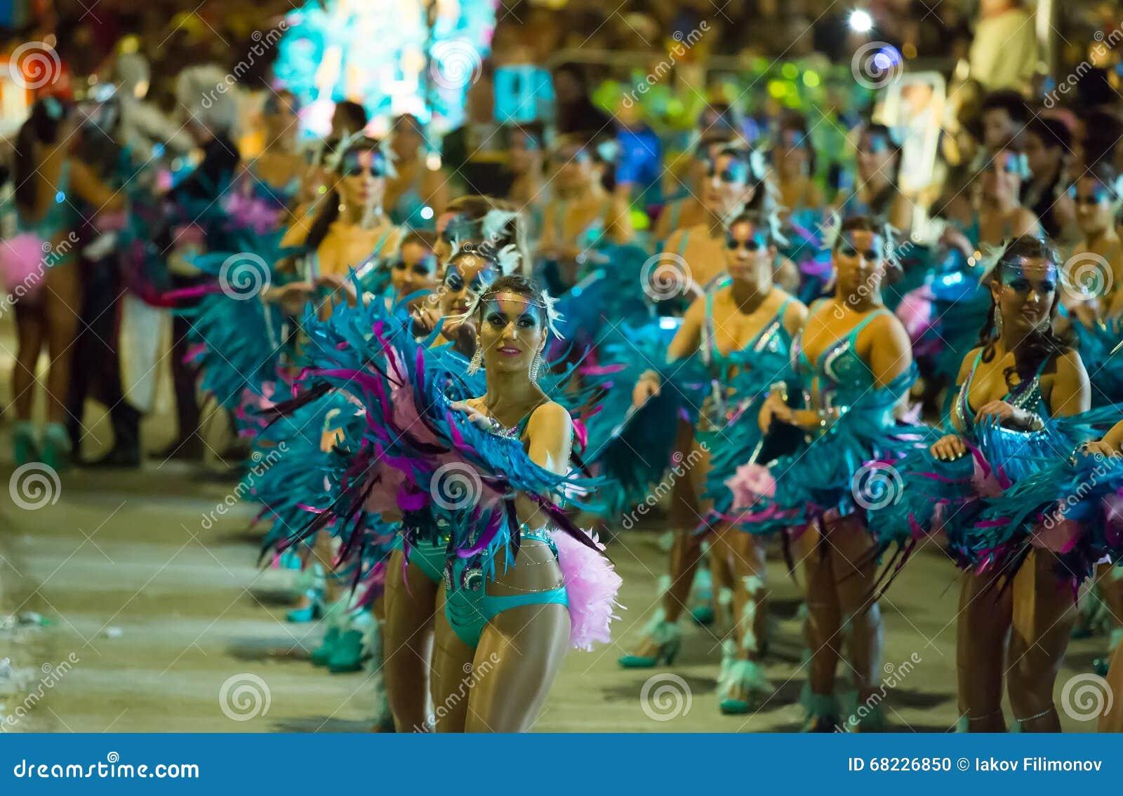 Carnaval espagnol dans la soirée