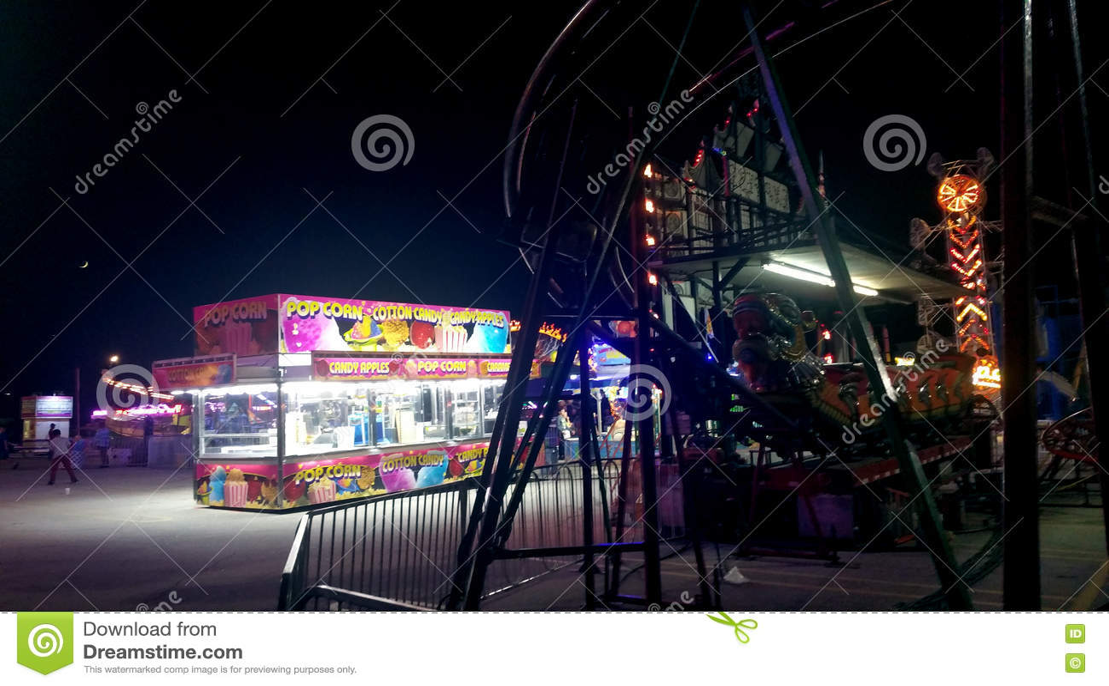 Carnaval intermediário na noite