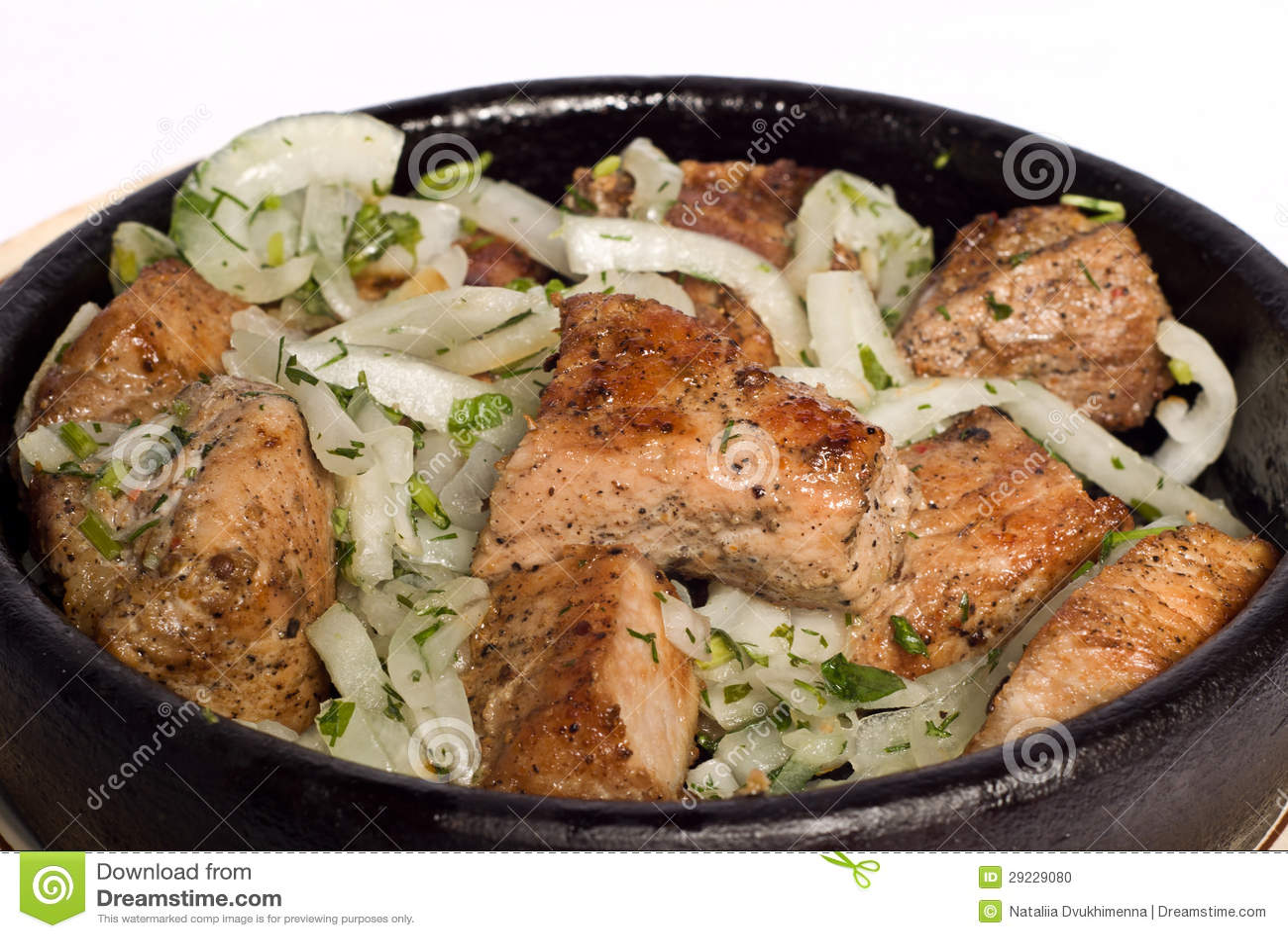Download Carne com cebola foto de stock. Imagem de verde, roasted - 29229080