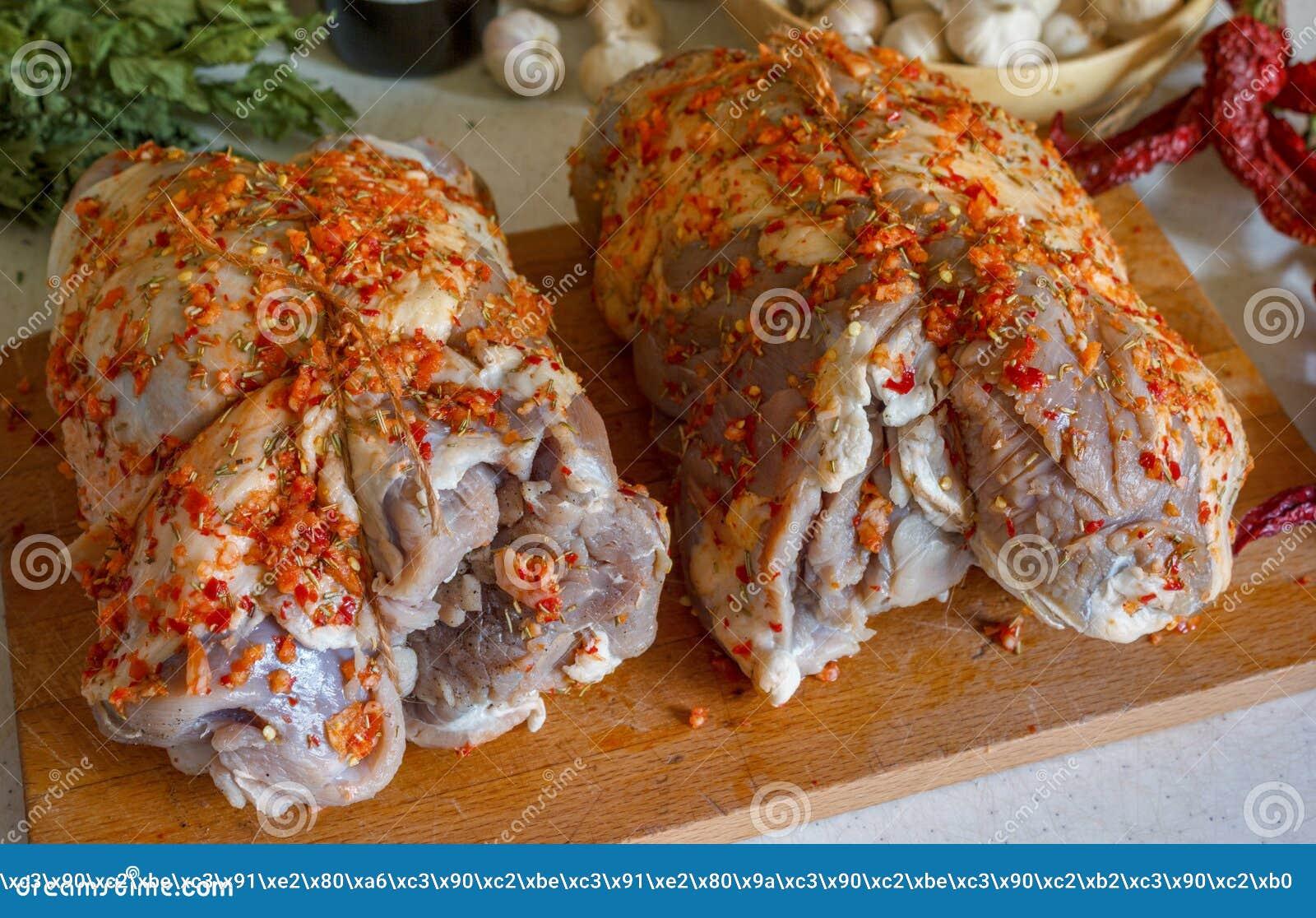 Carne con las especias