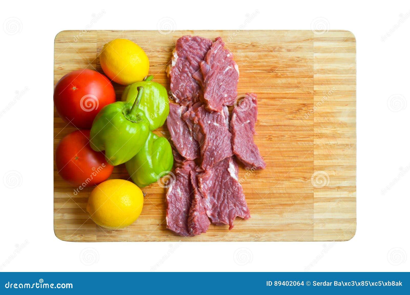 Carne crua vermelha