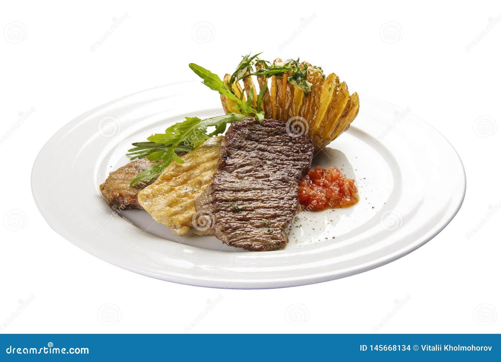 Carne da carne Um prato espanhol tradicional