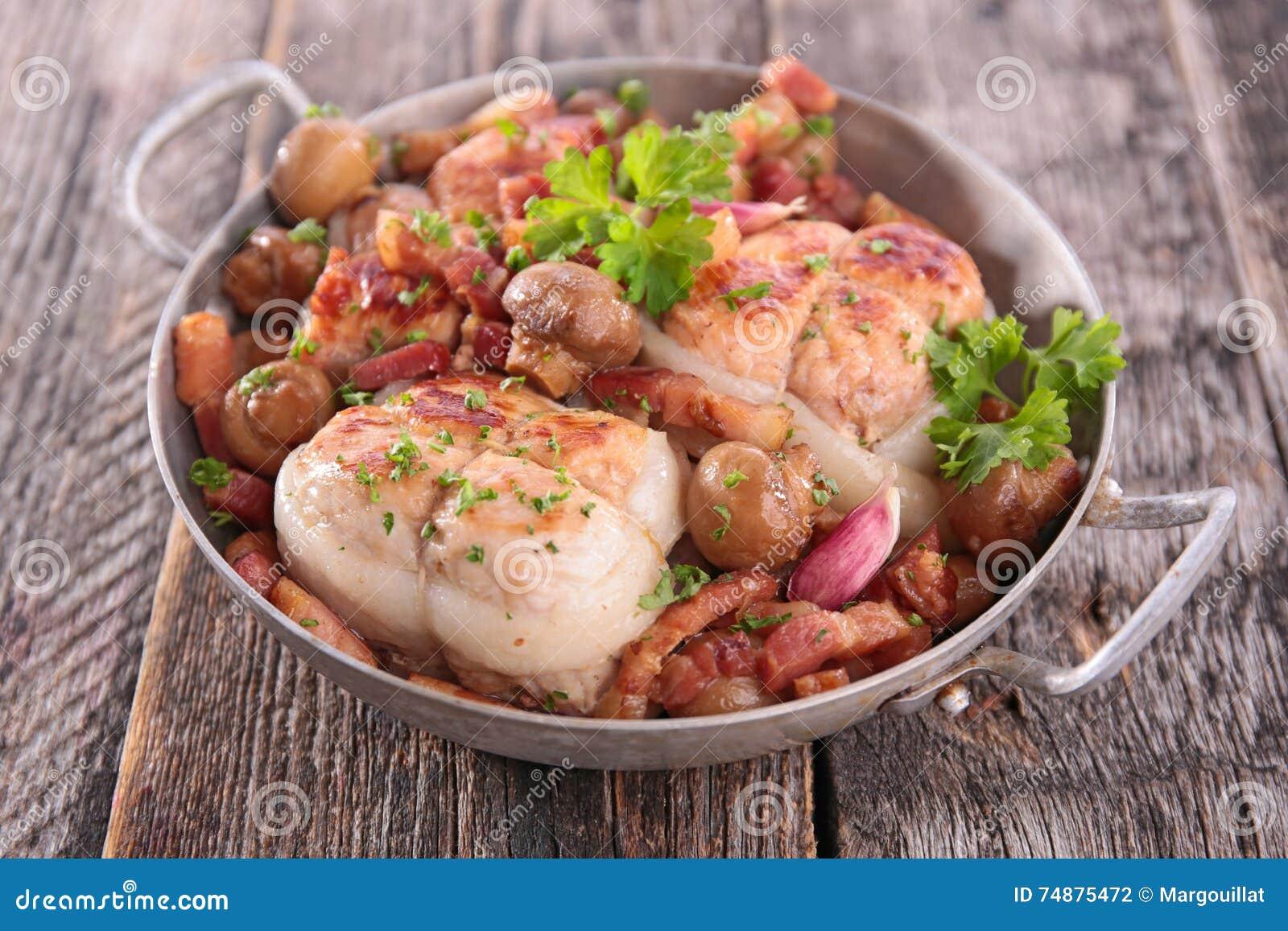 Carne de porco e cogumelo da carne
