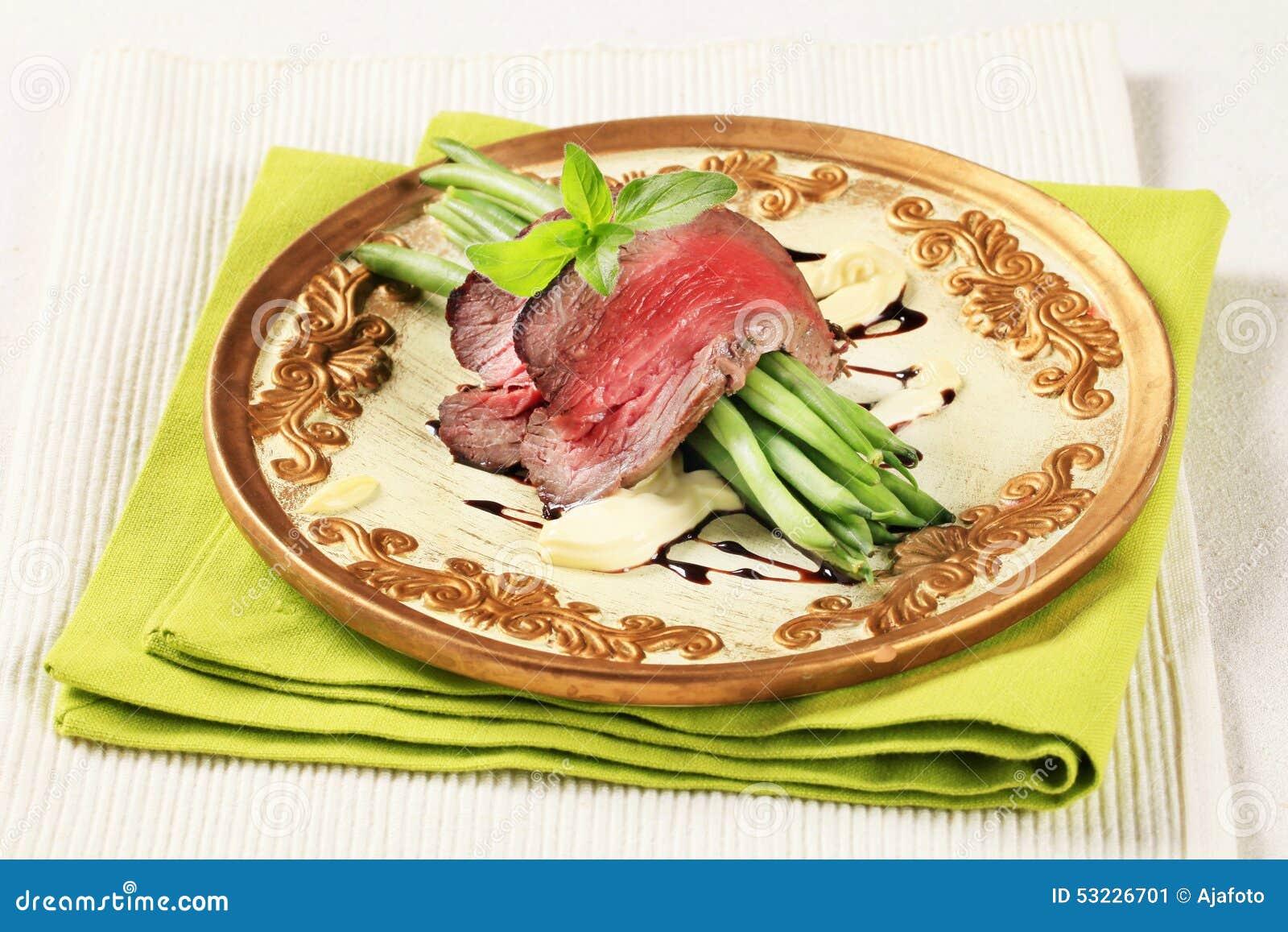 Carne de vaca de carne asada e hilo