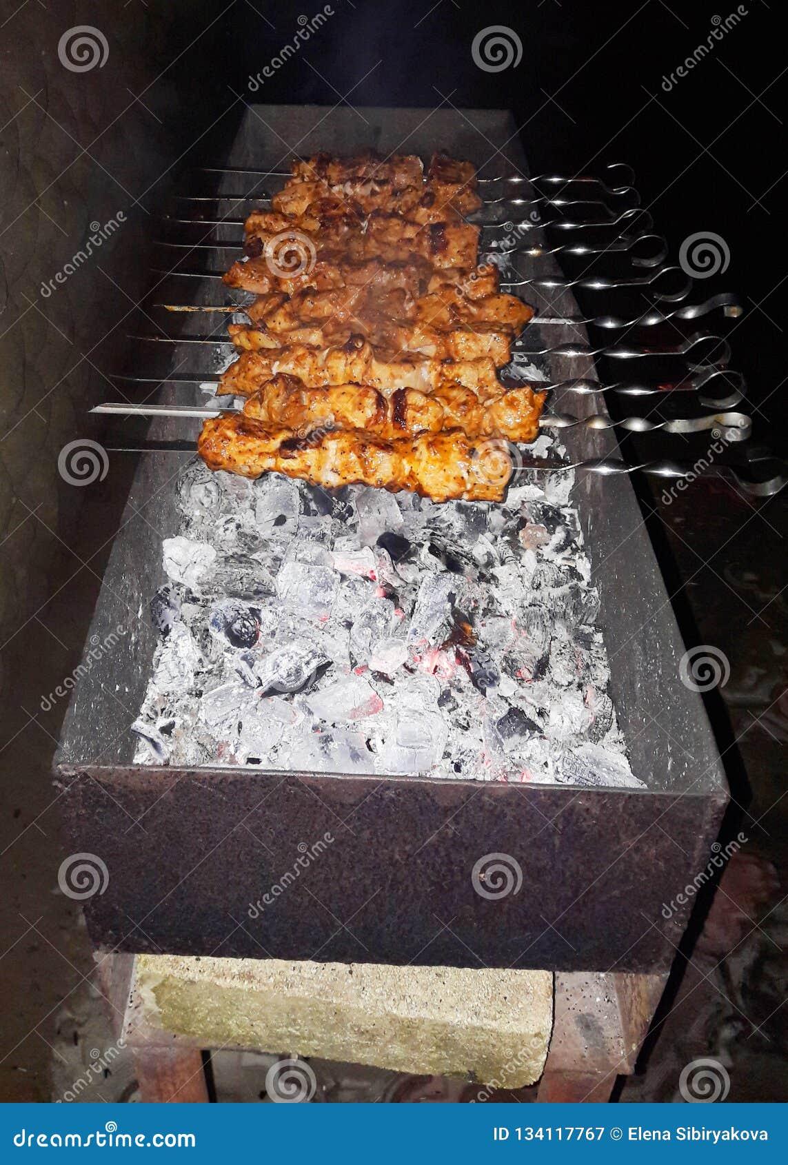 Carne del Bbq Parrilla al aire libre delicions de la parrilla de la barbacoa