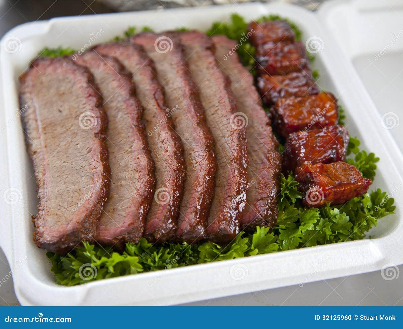 Carne do peito de carne do BBQ