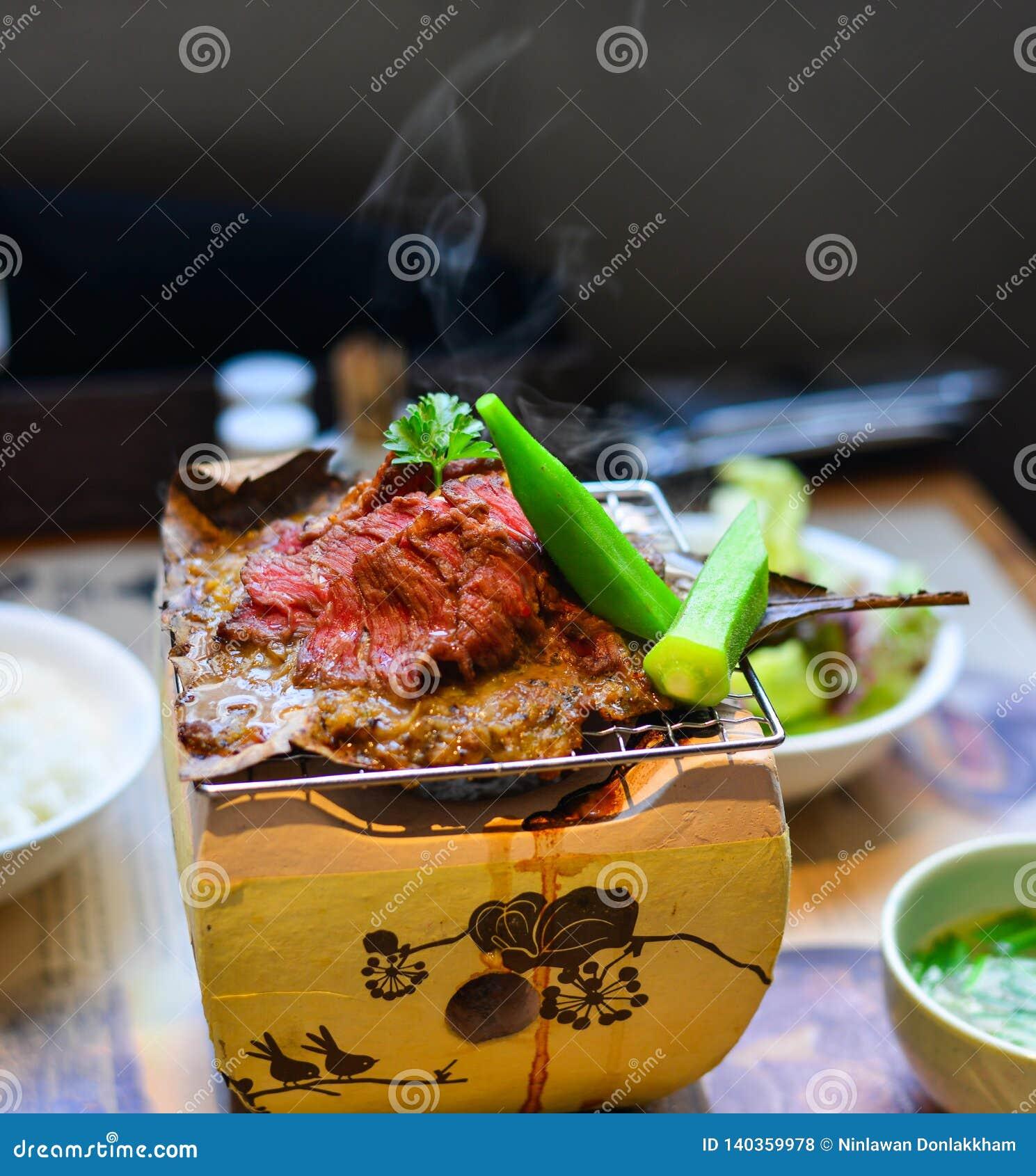 Carne fumado tradicional do wagyu do assado
