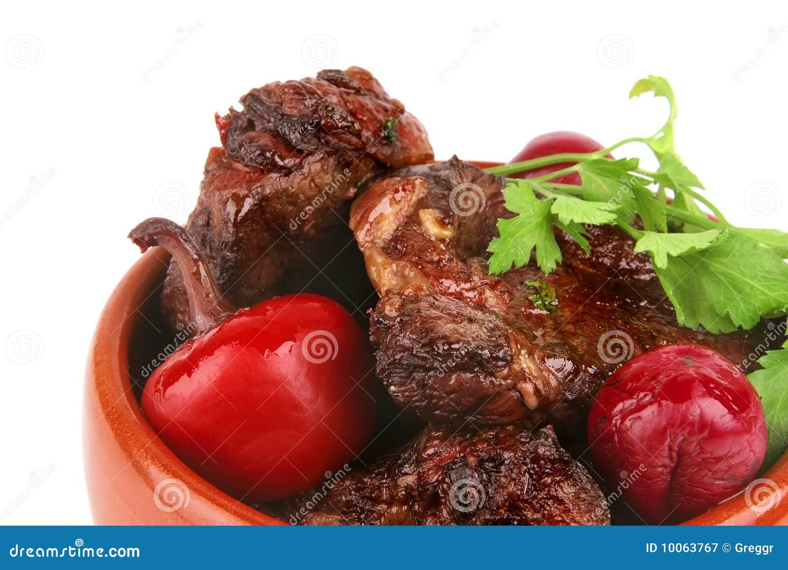Carne no potenciômetro