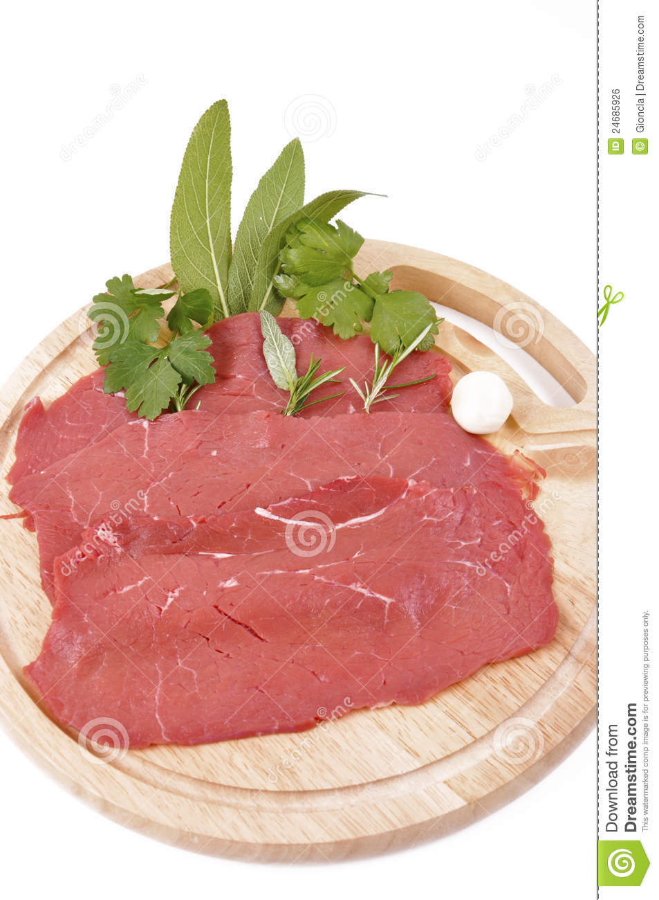 Carne Rossa Magra-lean Red Meat Royalty Free Stock Image