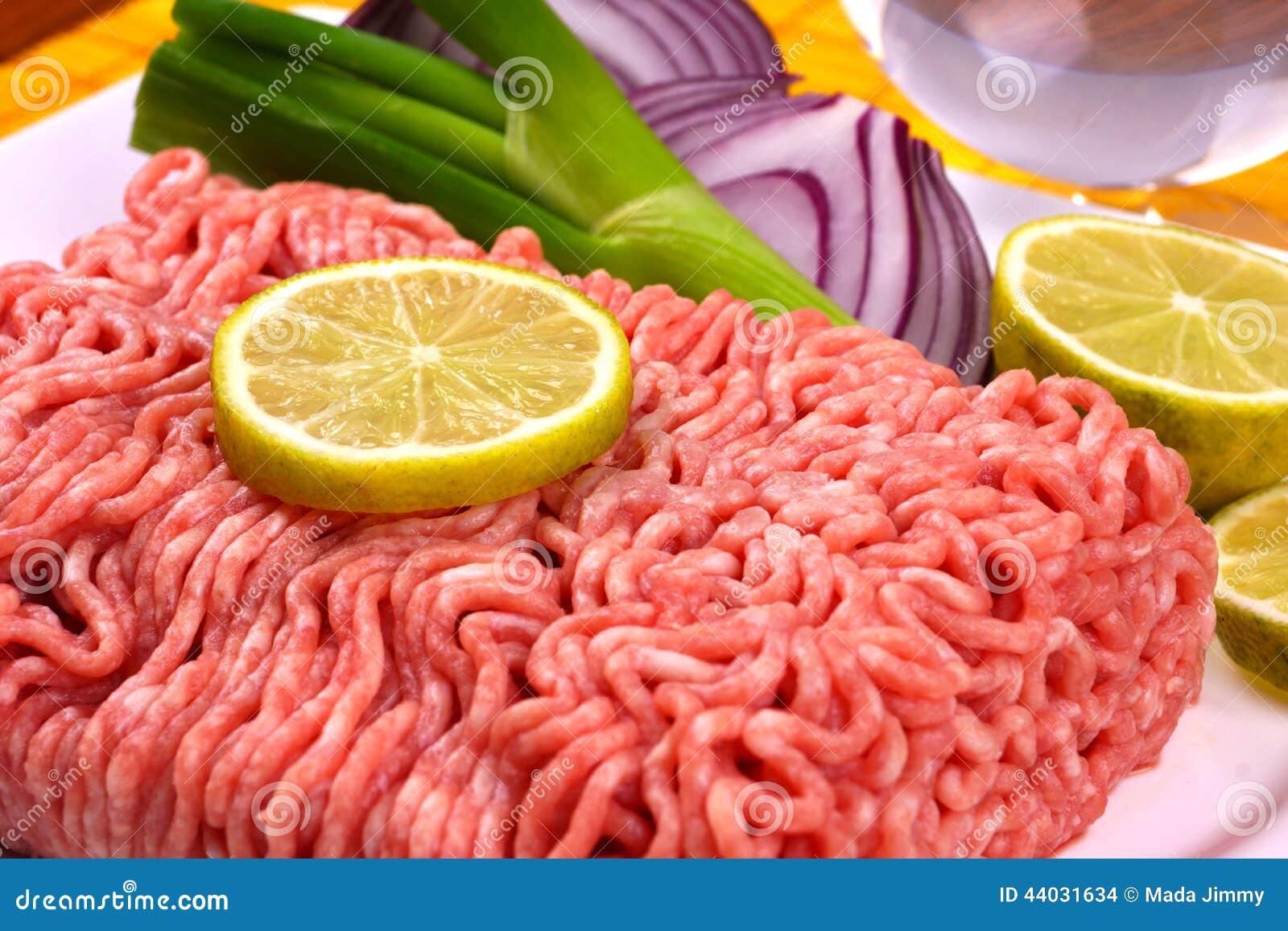 Carne triturada