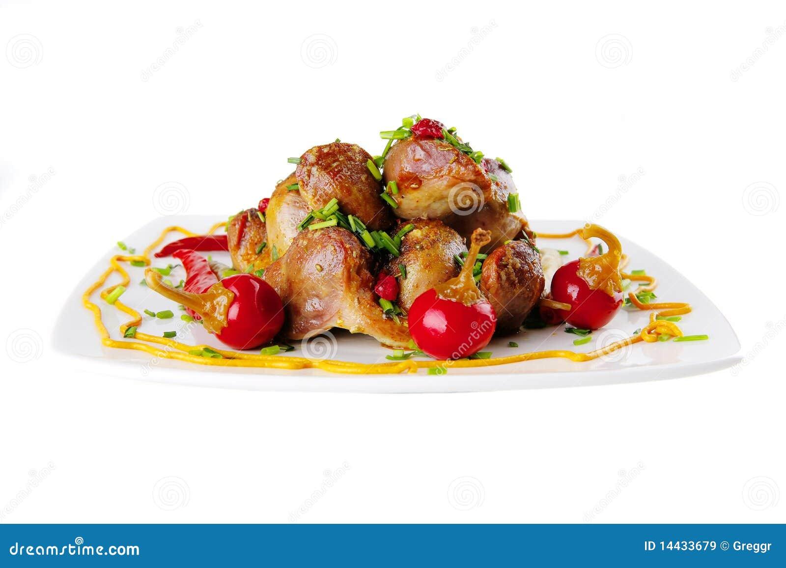 Carne y pimientas calientes