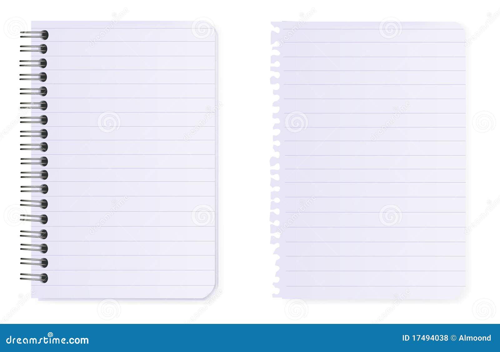 Carnet De Notes 224 Spirale Et Papier De Note Vecteur
