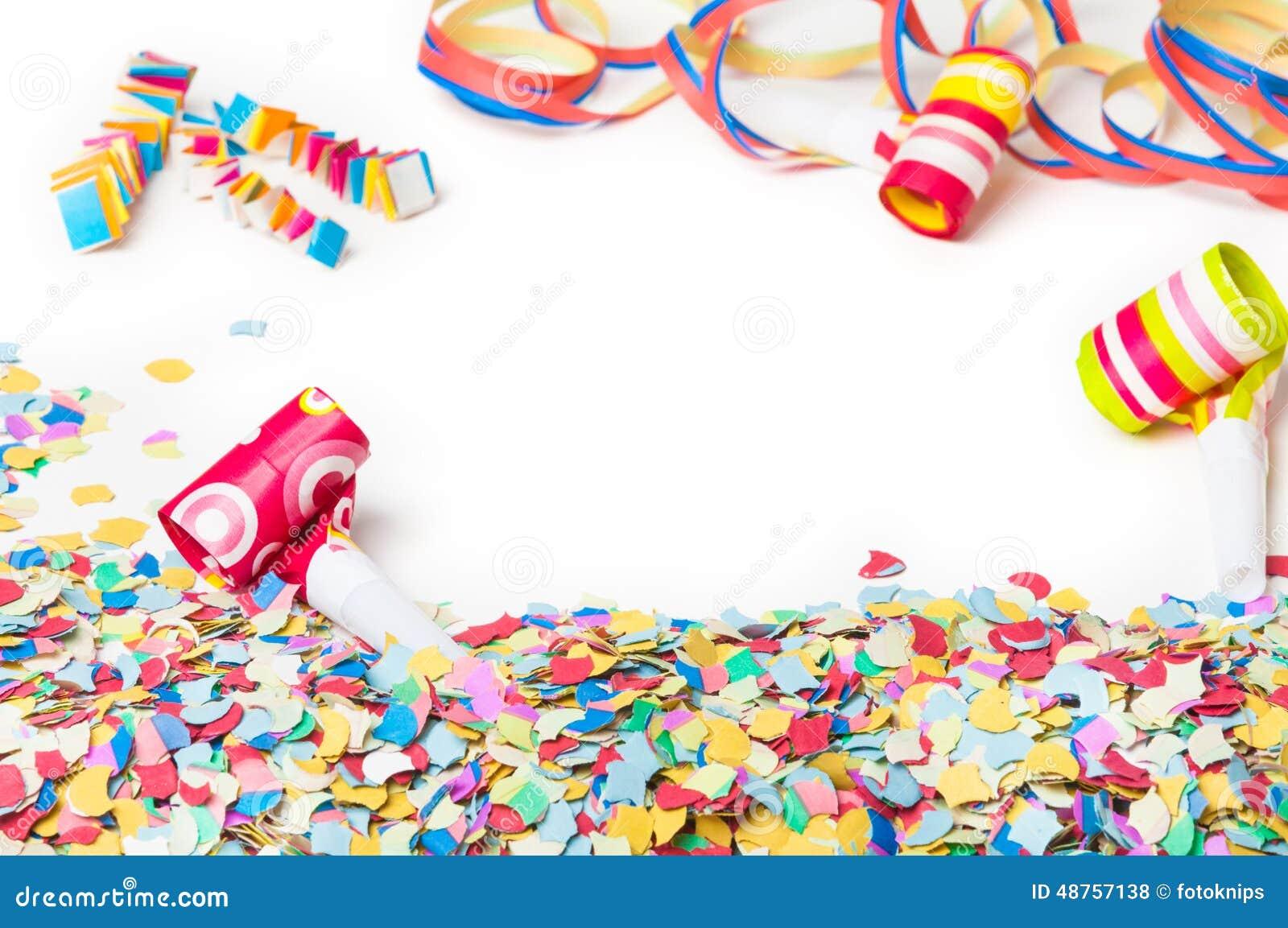 Carnevale Coriandoli Partito Fondo Fotografia Stock Immagine