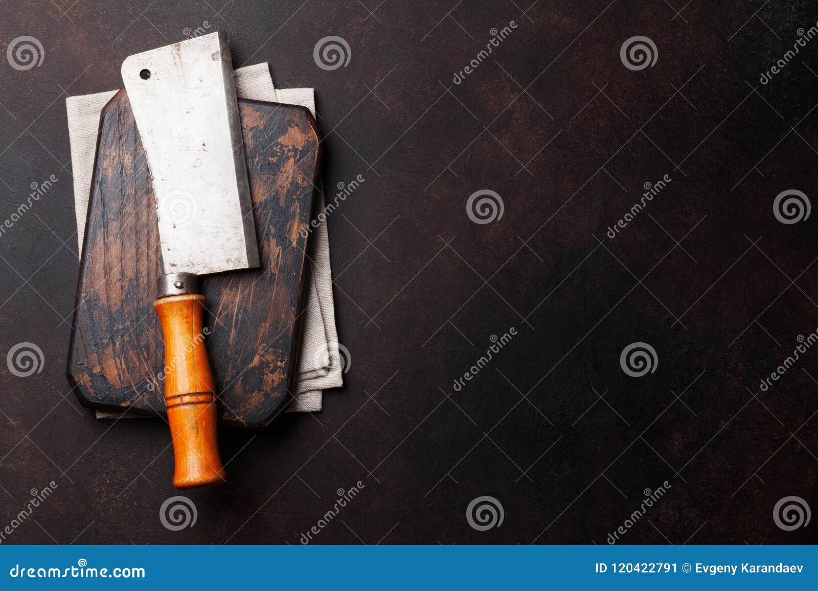 Carniceiro Faca da carne do vintage