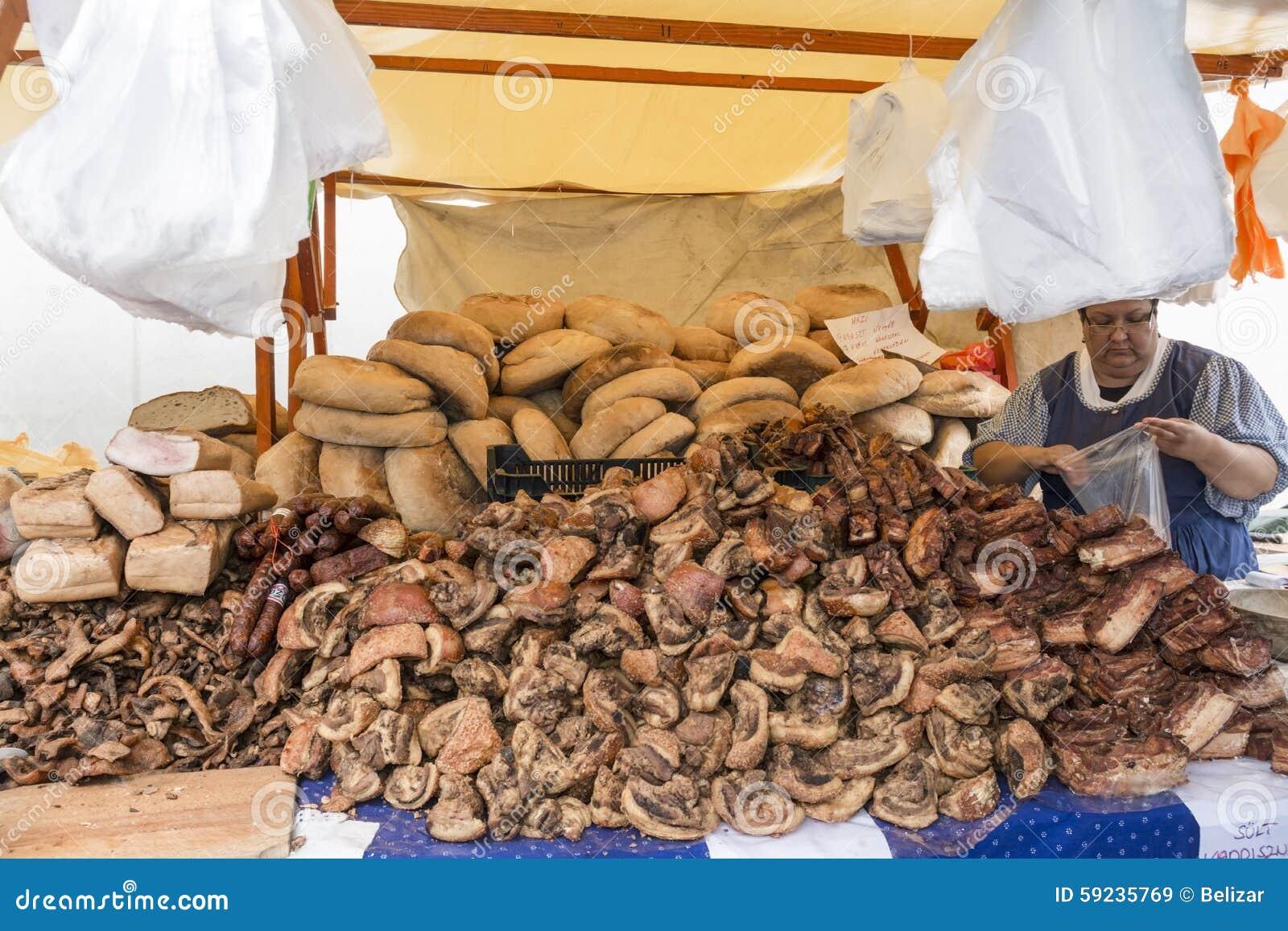 Download Carnicería y panadería imagen de archivo editorial. Imagen de tocino - 59235769