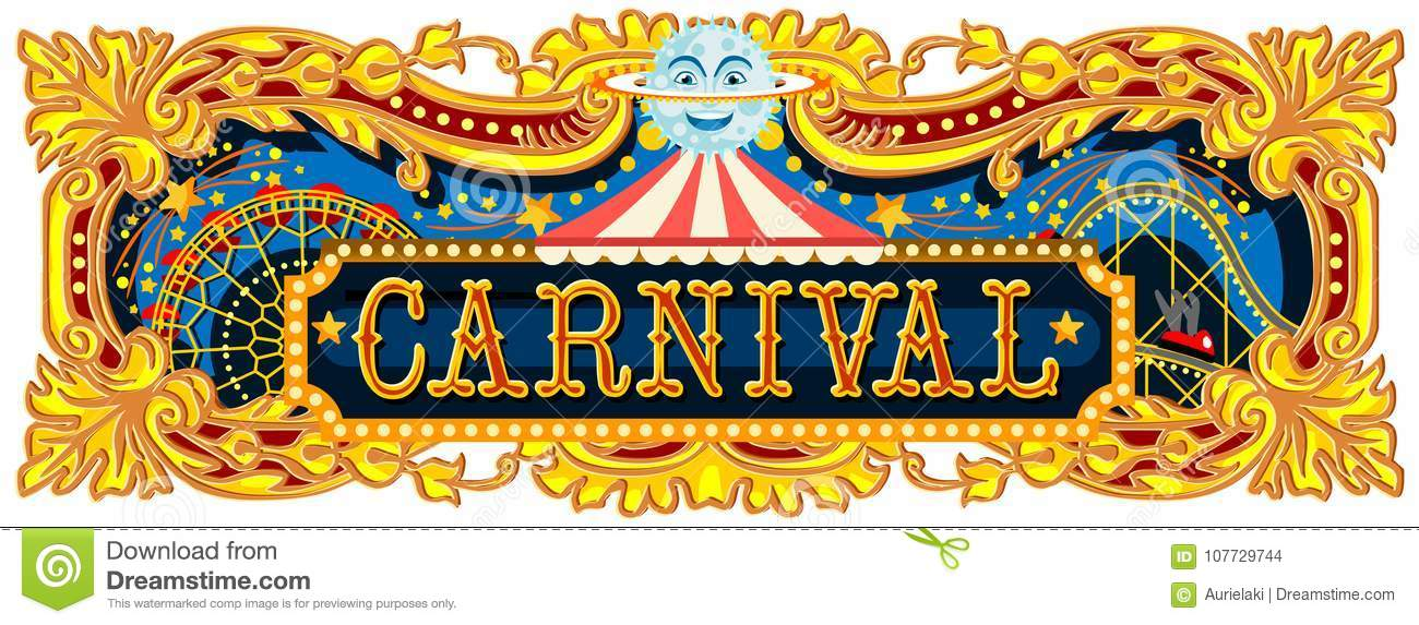 Carnival Banner Circus Template Blog Stock Vector