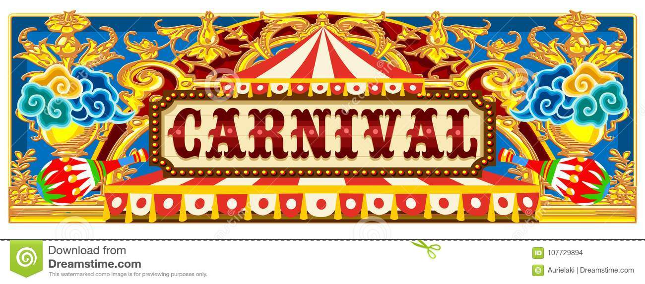 Carnival Banner With Circus Tent Stock Vector ...