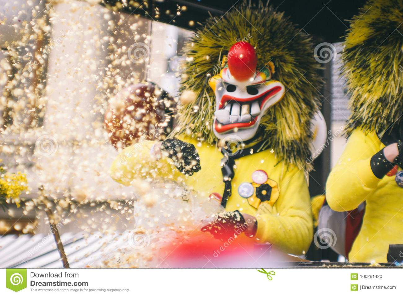 Carnival In Basel Stock Photo Image Of Throws Fasching 100261420