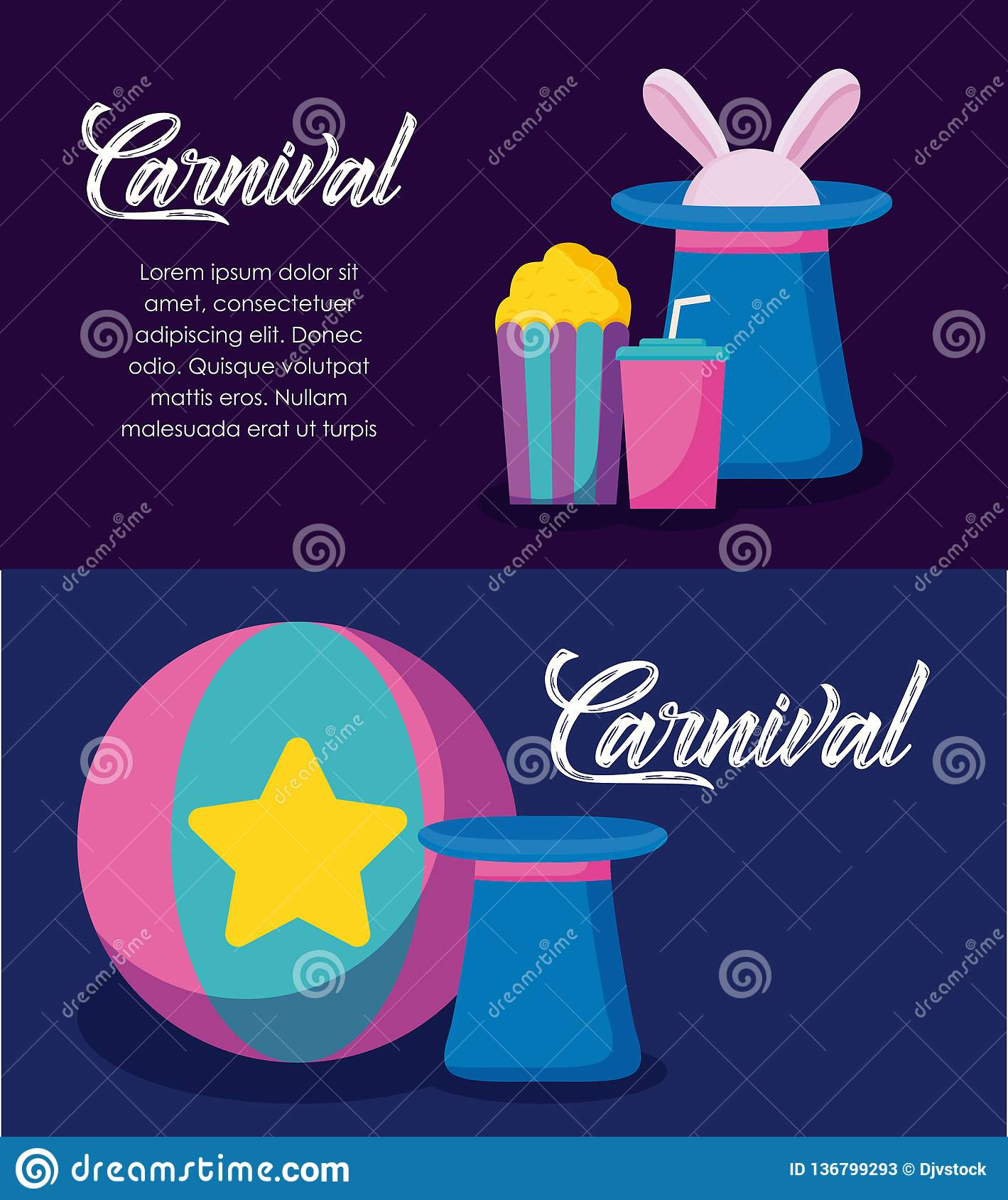 Carnival celebration infographic icons