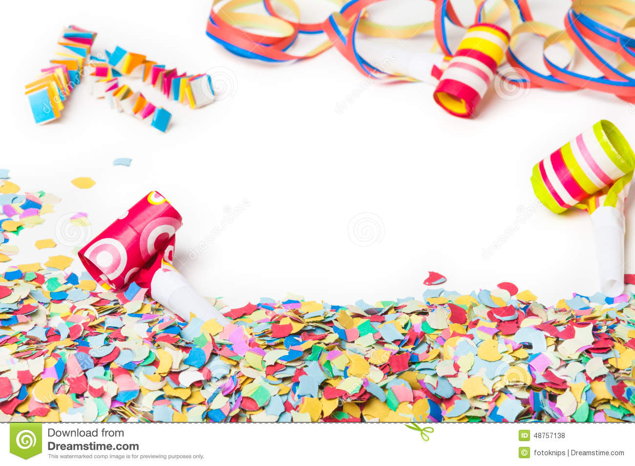 Carnival, Confetti, Party, Background Stock Photo - Image: 48757138