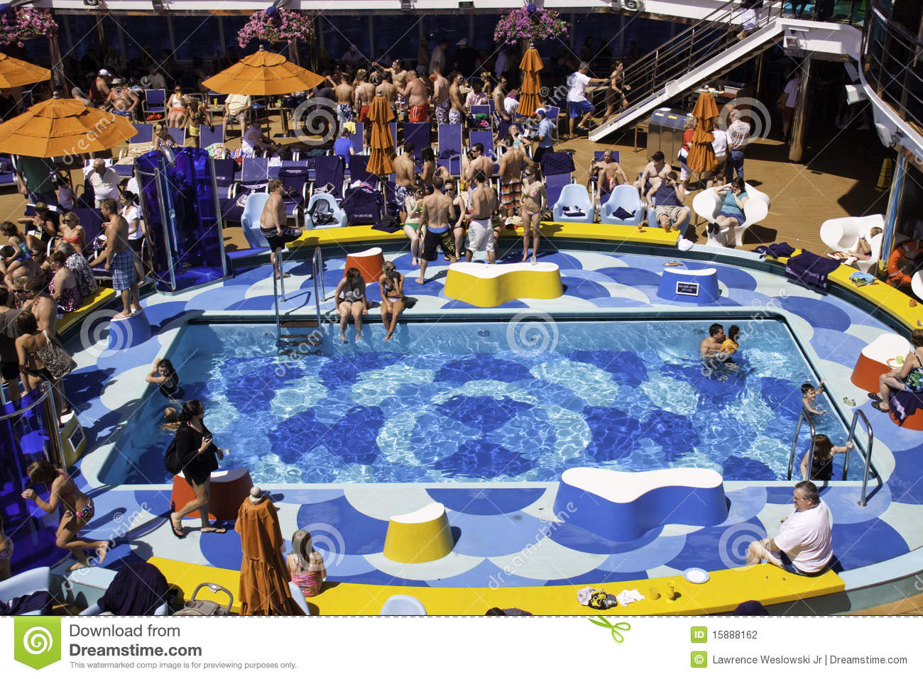 Carnival Dream Cruise Ship Pool Party Fun Editorial Photography Image 15888162
