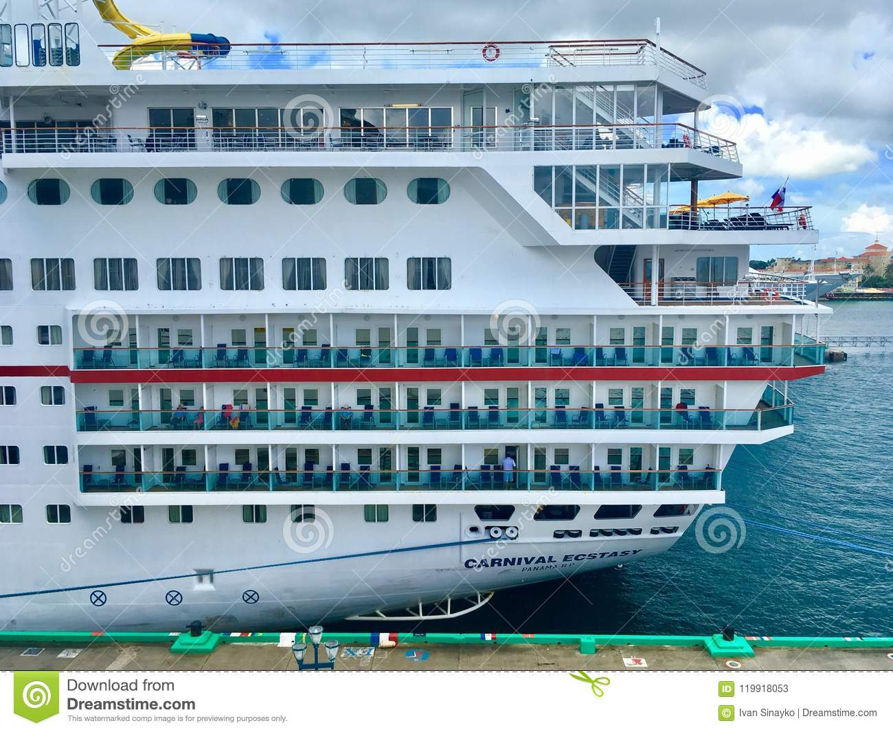 Carnival Ecstasy editorial stock photo. Image of liner - 119918053 on