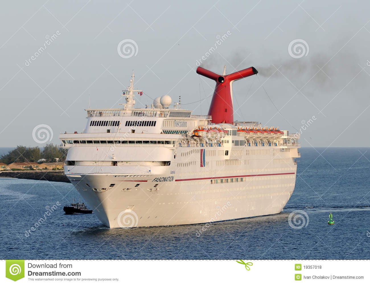 Carnival Fascination Cruise Ship Editorial Stock Photo
