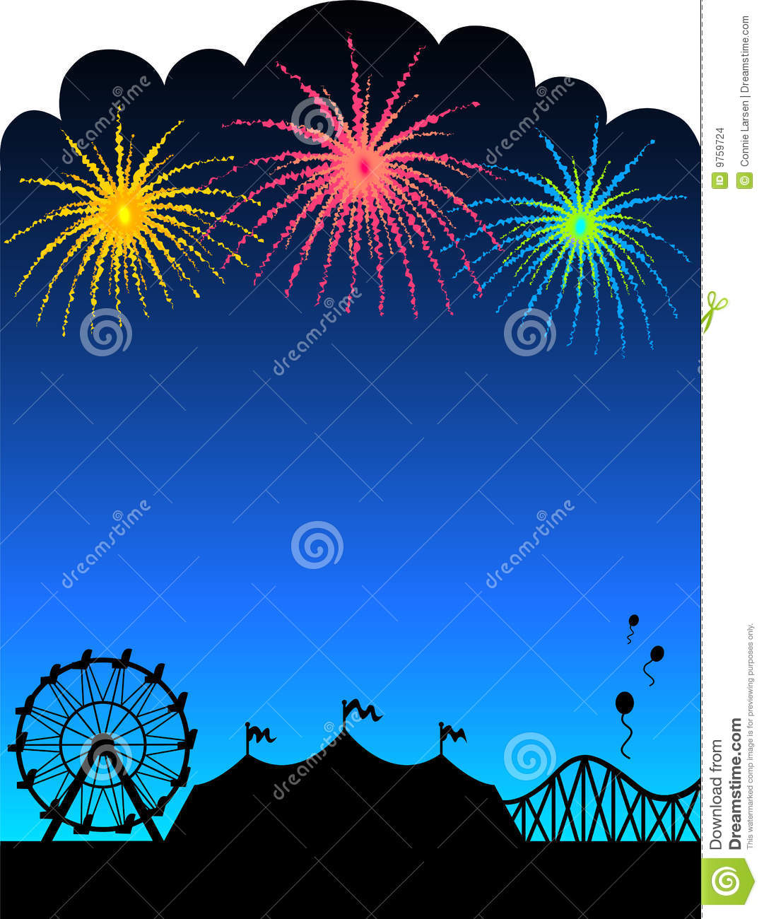 carnival fireworks background  eps stock vector image clipart of fireworks before it goes off clip art of fireworks exploding