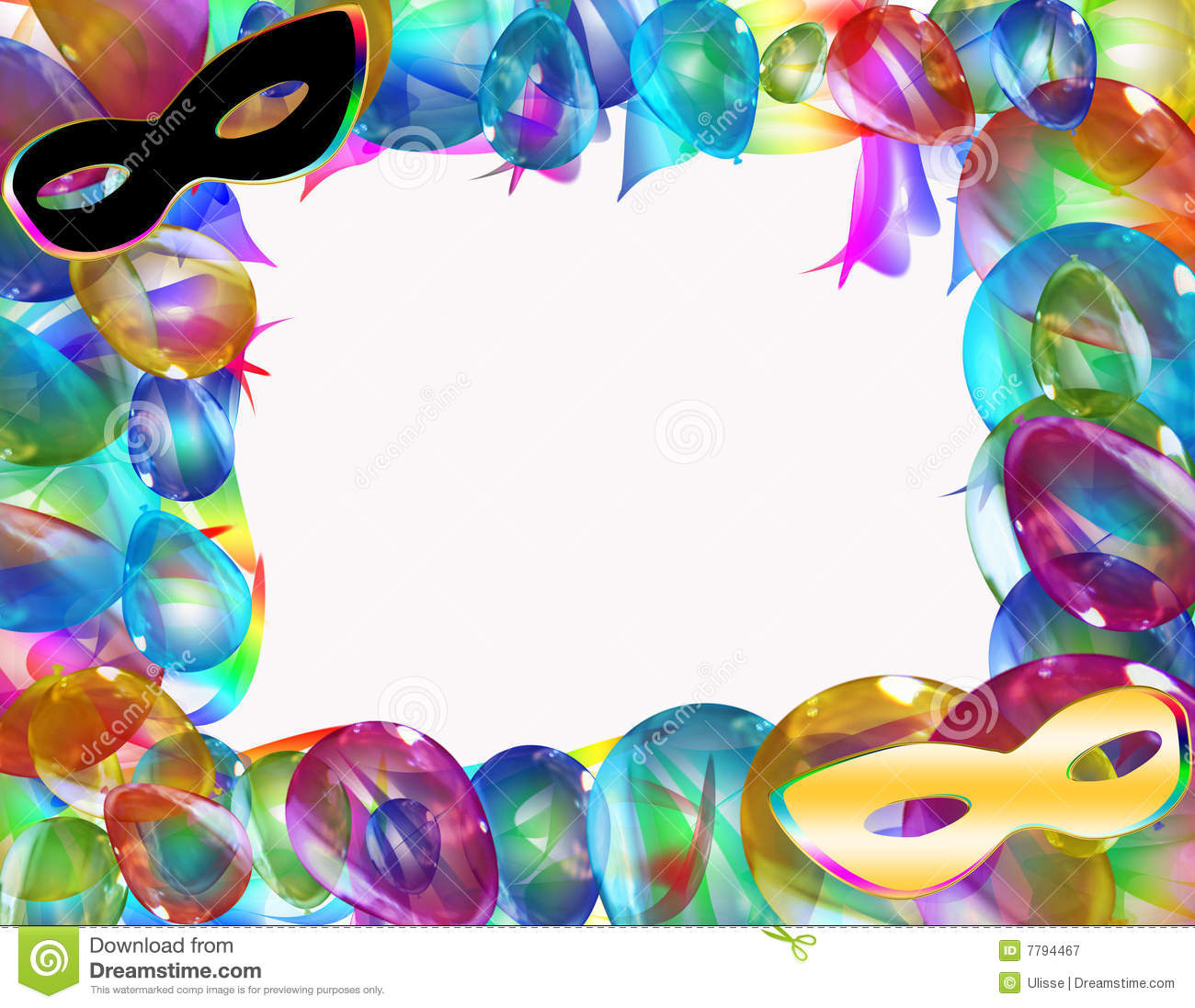 Carnival Frame Royalty Free Stock Photography Image 7794467