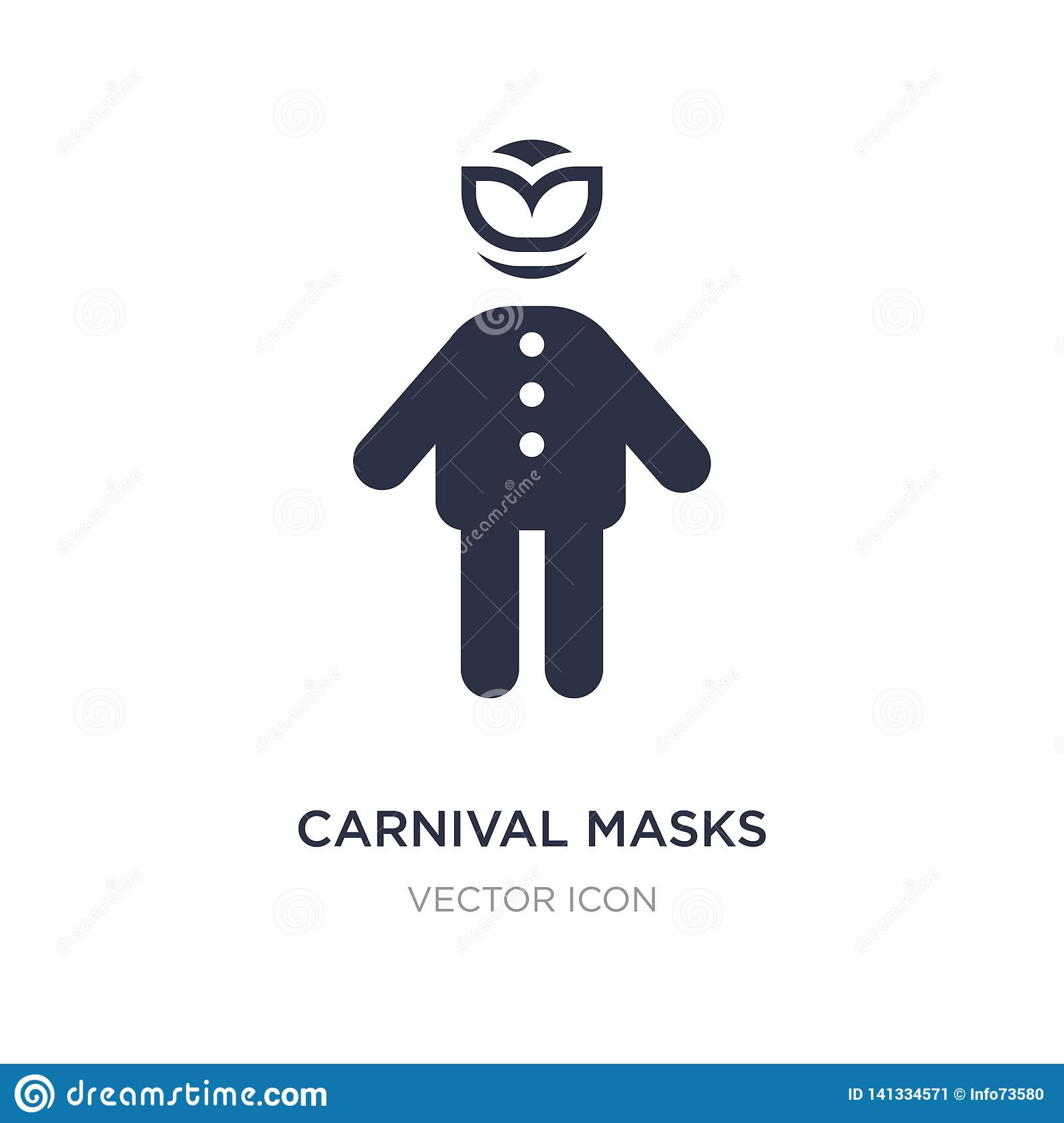 carnival masks icon on white background. Simple element illustration from People concept