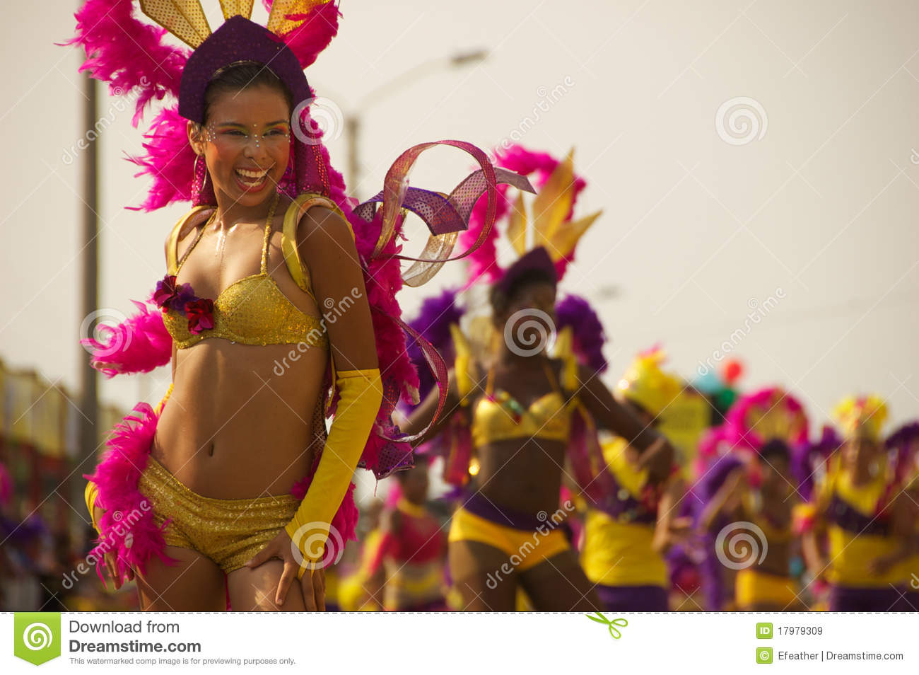 Carnival parade in Barranquilla, Colombia