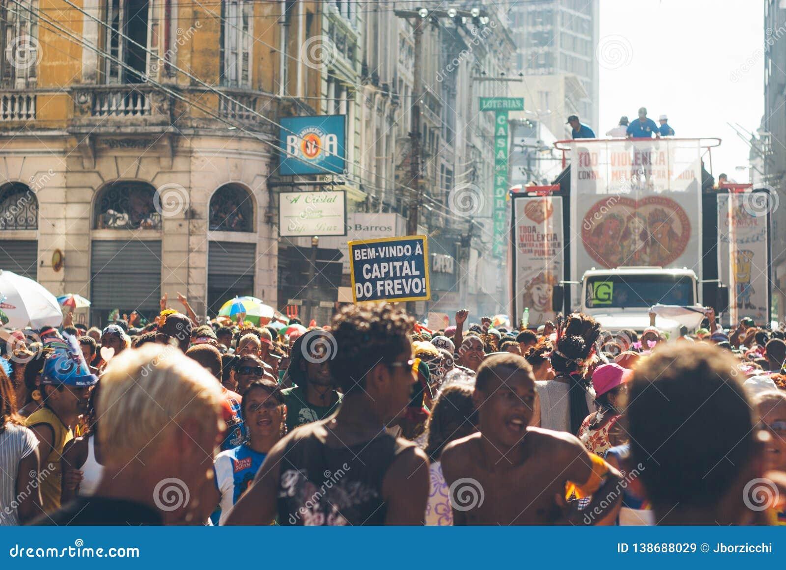 Carnival parade in recife,pernambuco, brazil