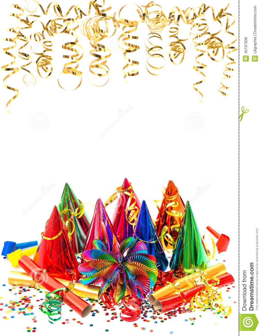 Carnival party decoration garlands streamer and confetti for Decoration carnaval