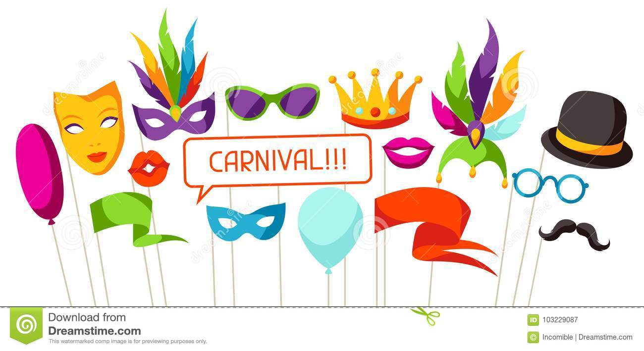 Carnival Photo Booth Props Accessories For Festival And Party Stock