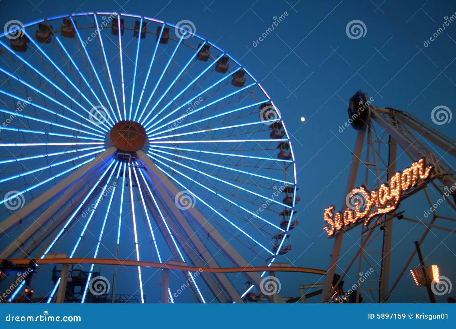 Wheels Up Pricing >> Carnival Rides At Night Royalty Free Stock Images - Image: 5897159