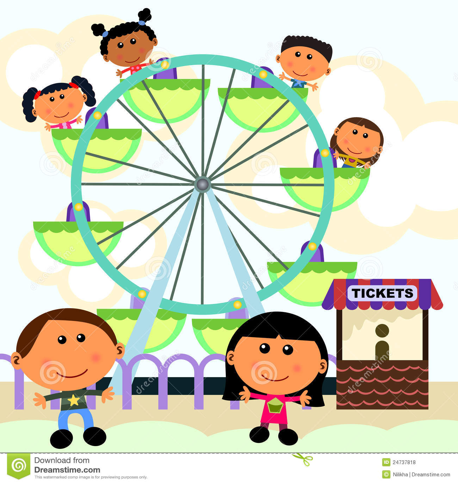 Carnival Scene Ferris Wheel Royalty Free Stock Photos