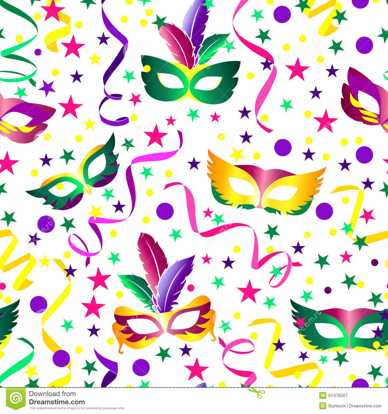 Carnival Seamless Background Stock Vector