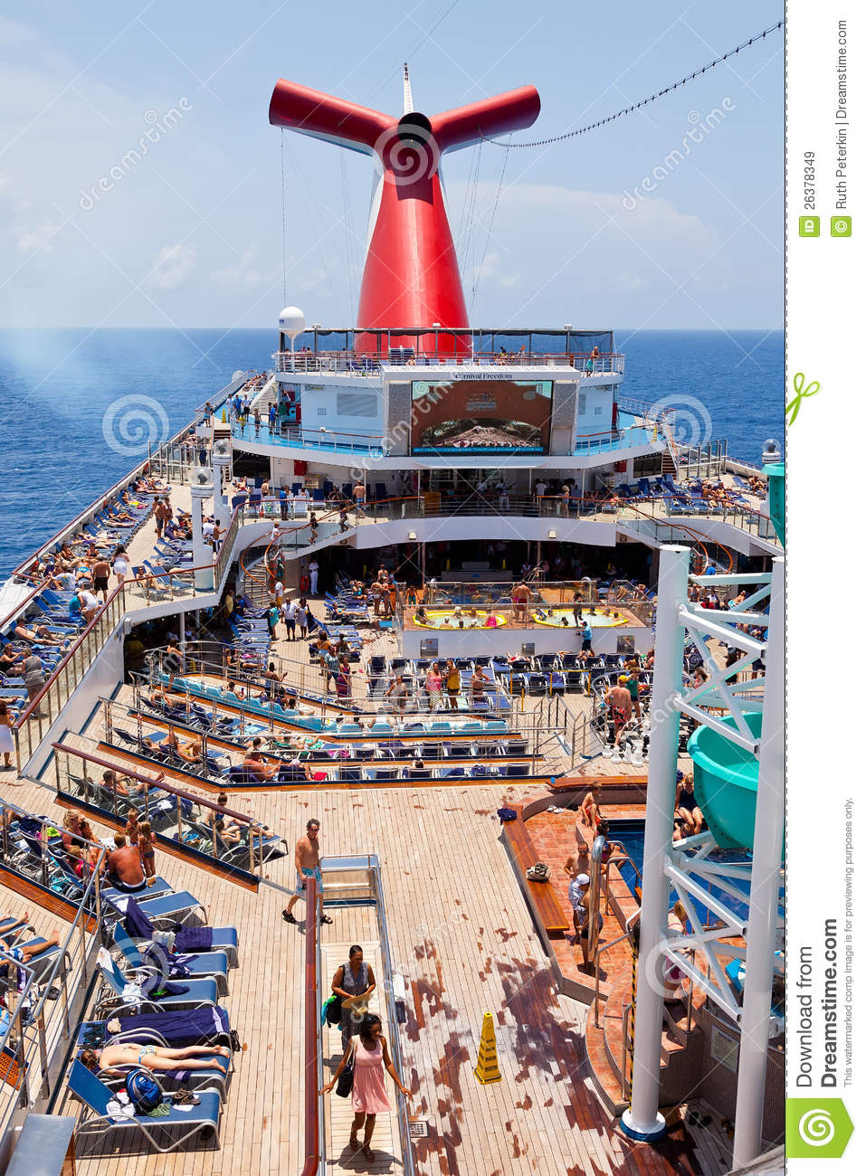 The Carnival Ship Freedom Editorial Stock Image Image Of