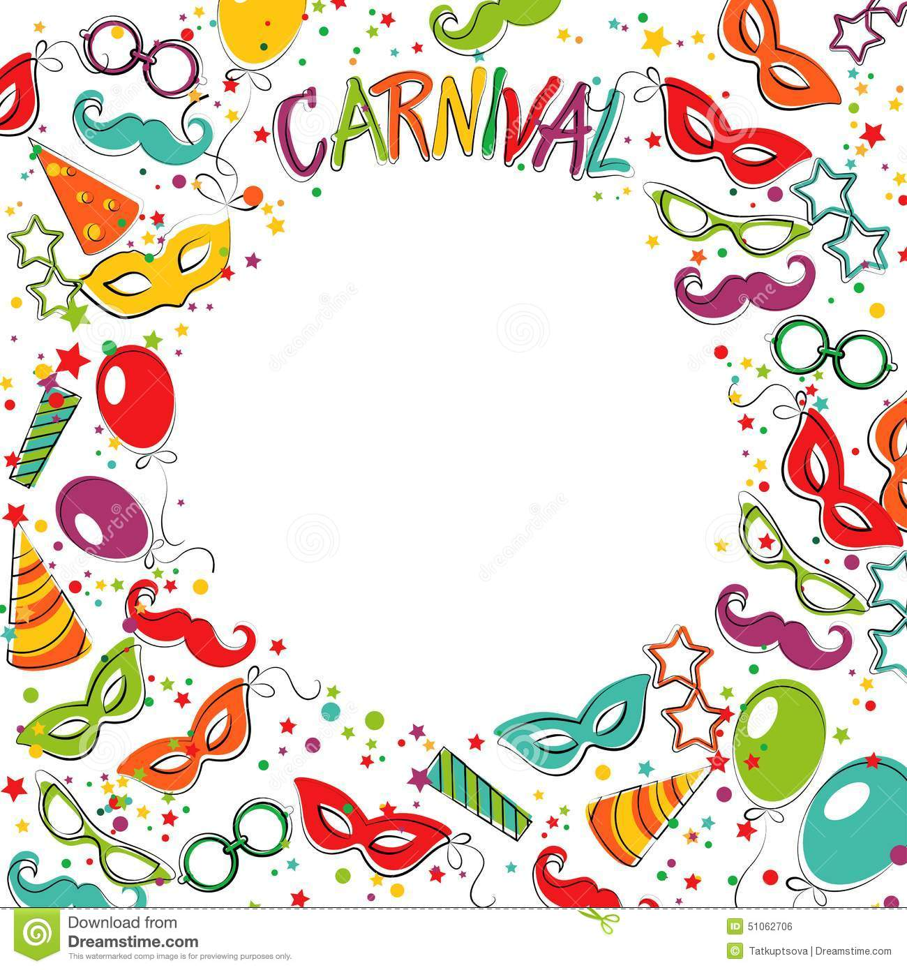 carnival template stock vector illustration of circus 51062706