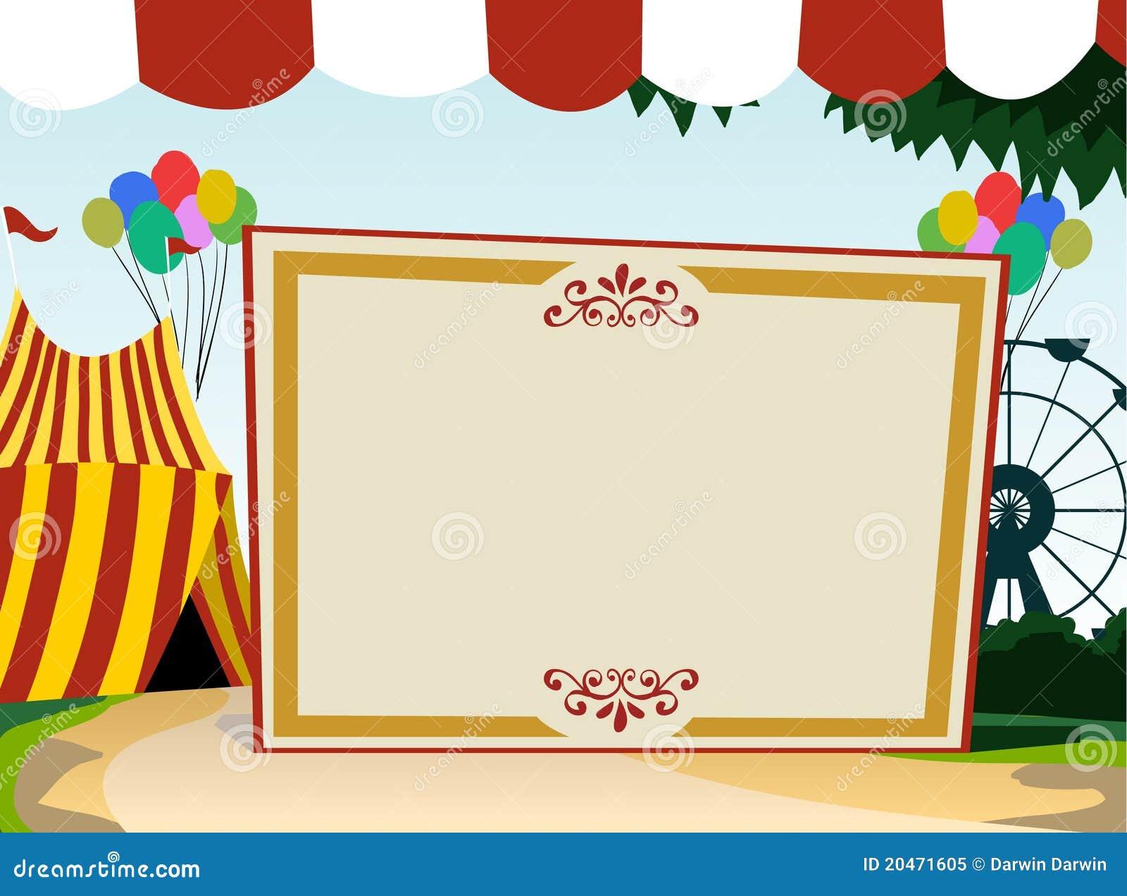 Carnival Theme Blank Board Royalty Free Stock Photo ...