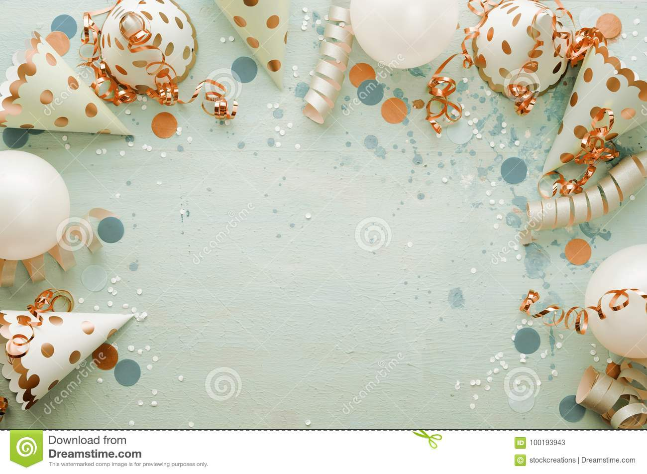 carnival theme with party hats stock image image of birthday dots